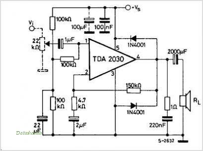 tda2030 dc at output
