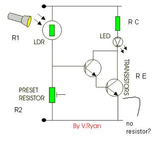 Simple Night L  Circuit Diagram on wiring diagram pir sensor