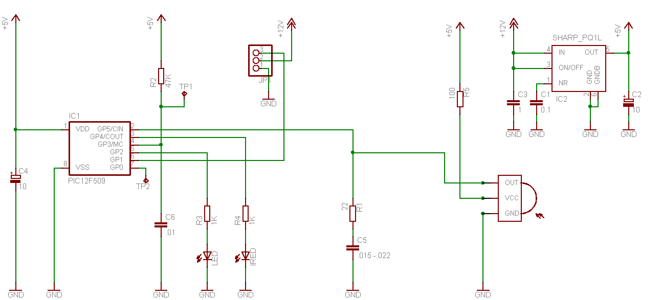 IR obstacle detection using TSOP1738 with PIC16F628   Electronics ...