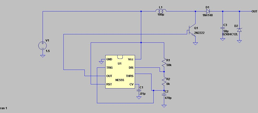 1 5v To 12v Boost Converter Using 555 Timer on electronic timer circuit