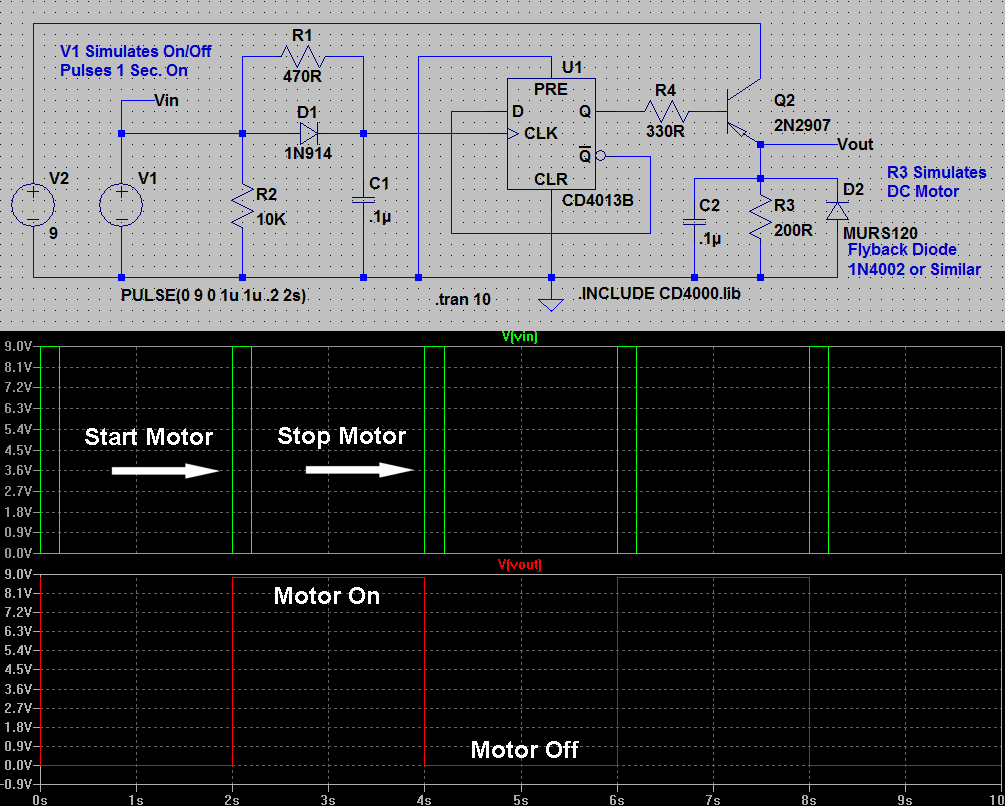 Help Needed Please Electronics Forum Circuits Projects And 2n2222 Equivalent Transistor 4013 Motor Start Stop