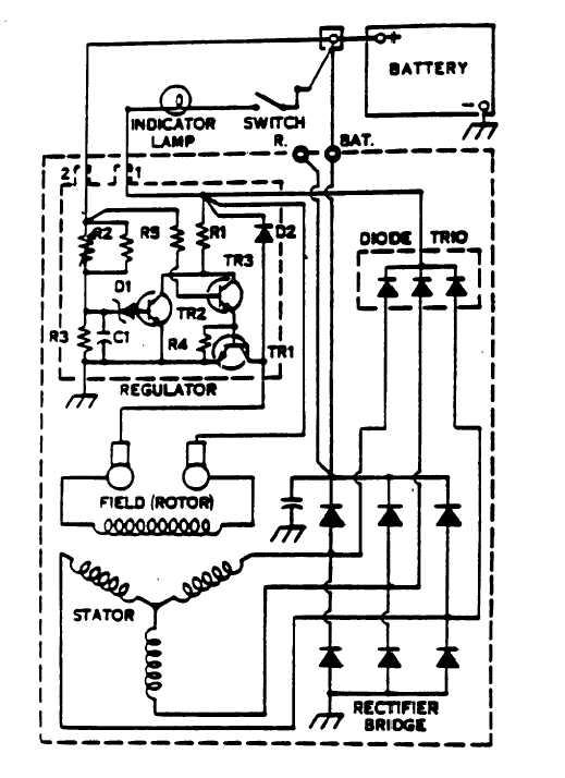 alternator wiring diagrams alternator image wiring wiring diagram for alternator warning light wiring diagram on alternator wiring diagrams