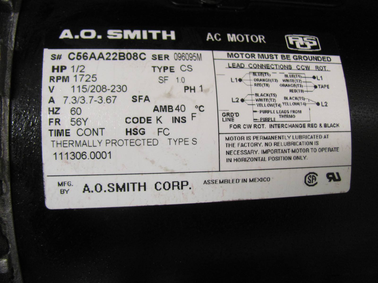 ao smith motors wiring diagram dual voltage motor wiring diagram  at suagrazia.org