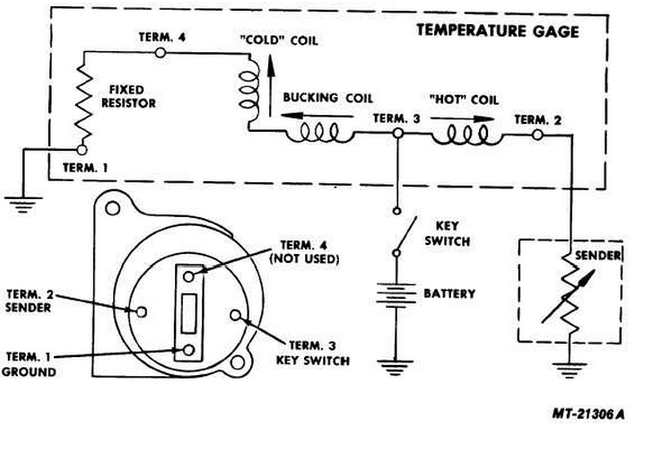 coolant temperature gauge reads high electronics forum (circuits stewart warner water temp gauge wiring diagram at fashall.co