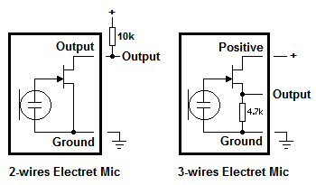 biasing sub miniature electret microphone electronics forum 2 wire microphone wiring diagram at gsmx.co