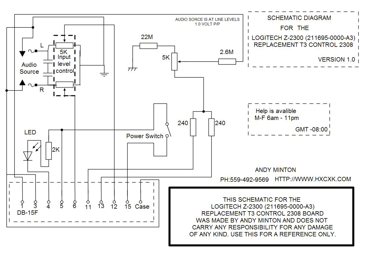 speaker volume control wiring diagram & professional pa system logitech x 240 wiring diagram at fashall.co