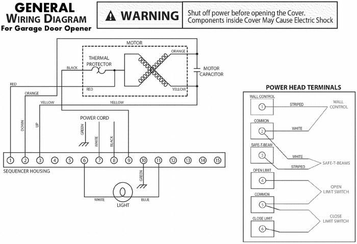 Garage Door Opener Motor Wiring, Garage Opener Wiring Diagram