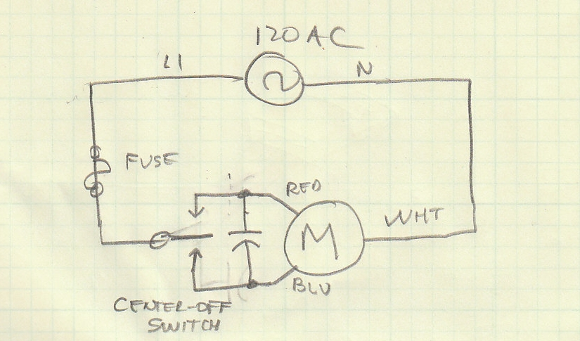 garage door motor wiring question electronics forum circuits motorcap jpg