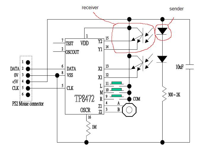 using a mouse optical encoder electronics forum (circuits optical mouse wiring diagram at readyjetset.co