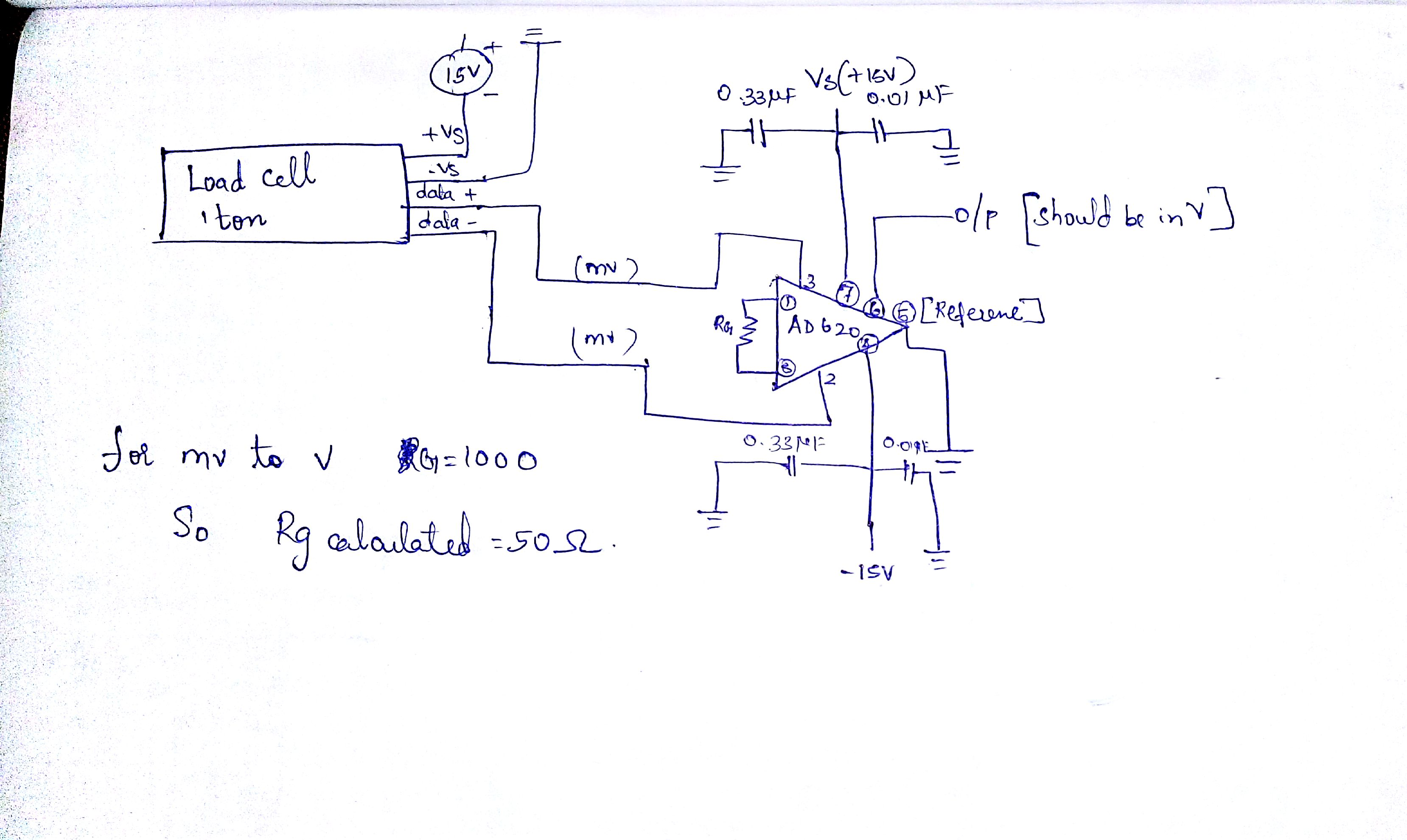 load cell amplification using AD620   Electronics Forum (Circuits ...