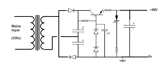 48 volt phantom power supply photo schematic transformer phantom psu png