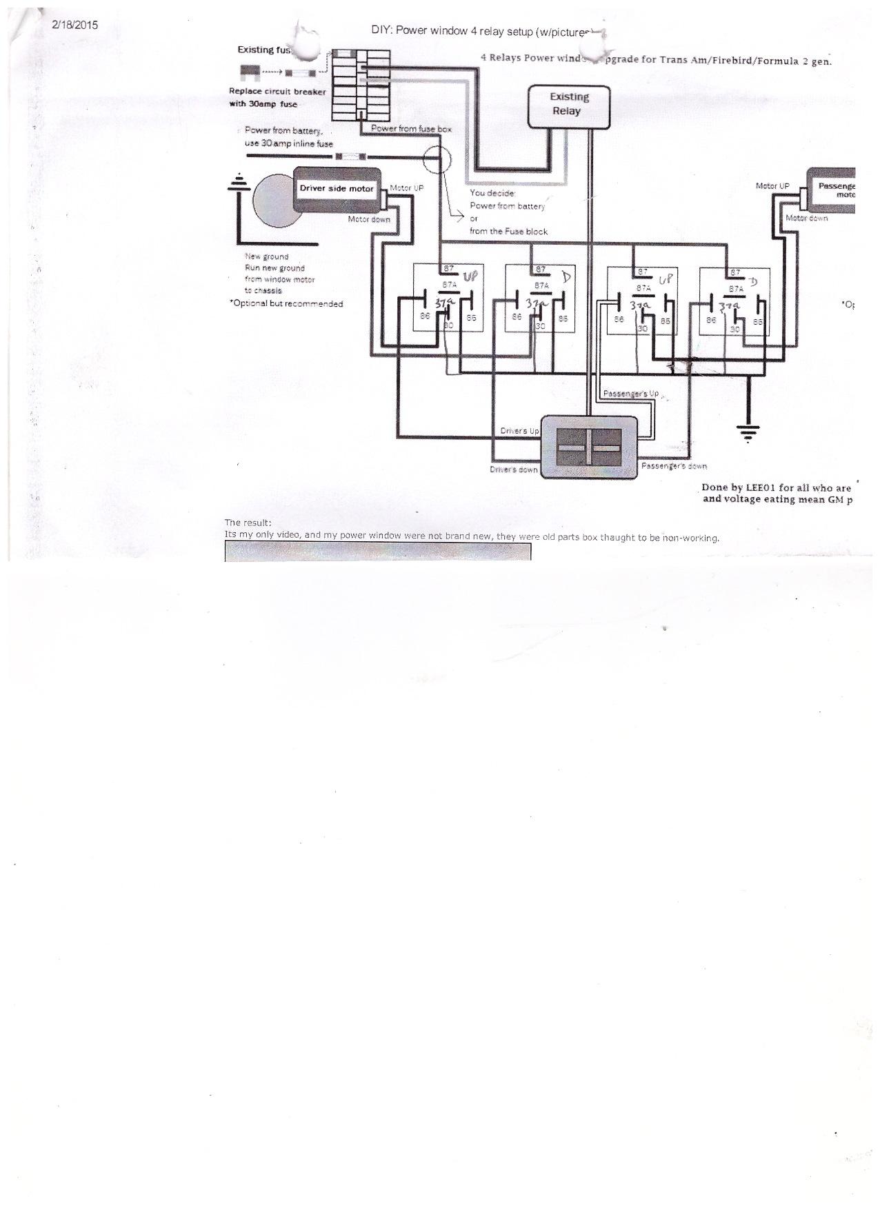 power window relay setup electronics forum (circuits, projects Power Window Remote Control diy power window wiring diagram
