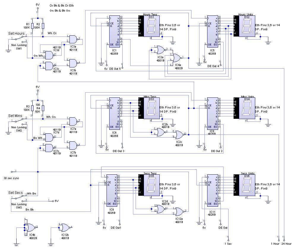 circuit diagram of digital clock using logic gates wiring diagrams digital clock base on logic gates electronics forum circuits