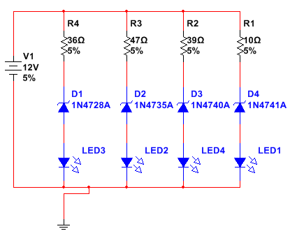 2 led circuit diagram, 2 led circuit diagram #1 together with 2 led circuit diagram #1