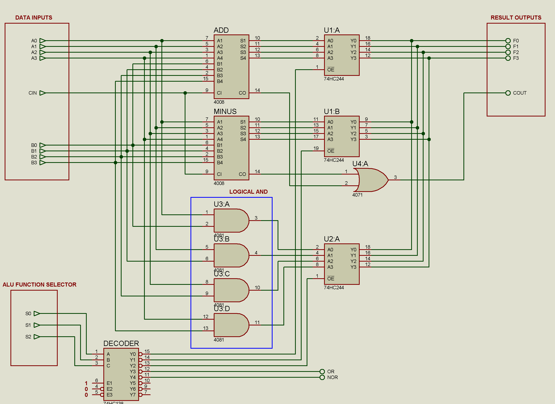 4 bit alu diagram electronics forum circuits projects and  : alu diagram - findchart.co