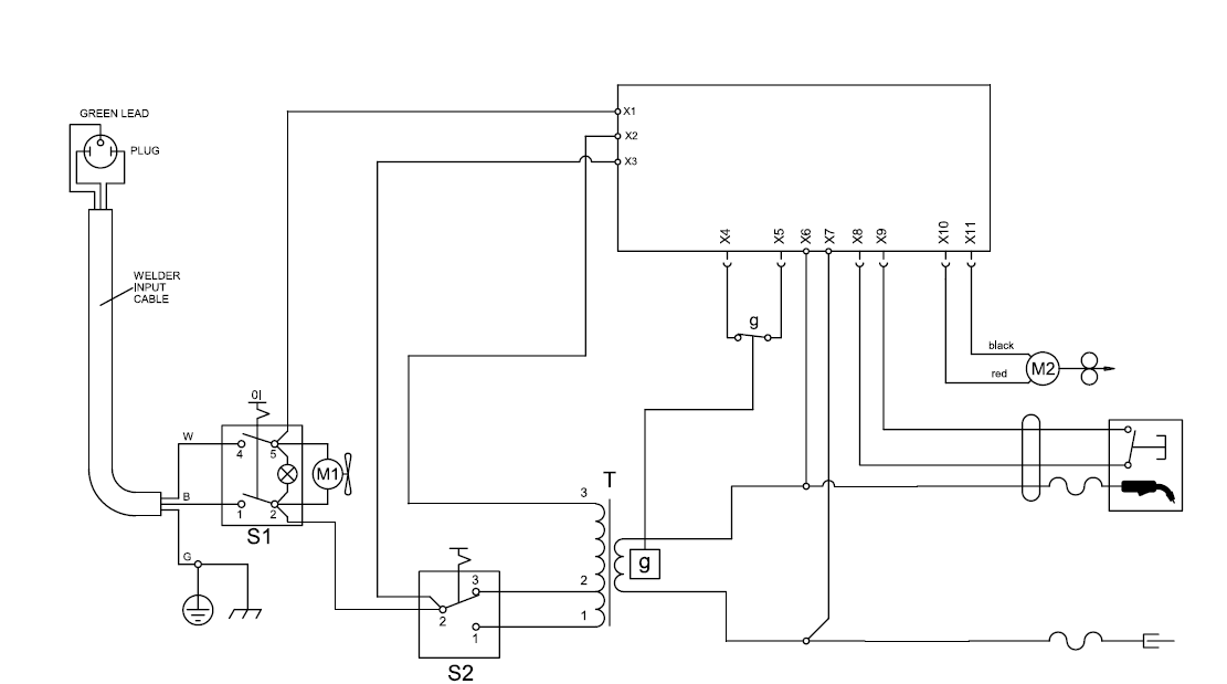 converting an ac welder into a dc welder electronics forum wiring diagram for chicago electric welder at edmiracle.co